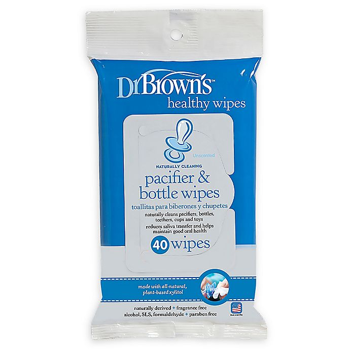 Alternate image 1 for Dr. Brown's® 40-Pack Pacifier and Bottle Wipes