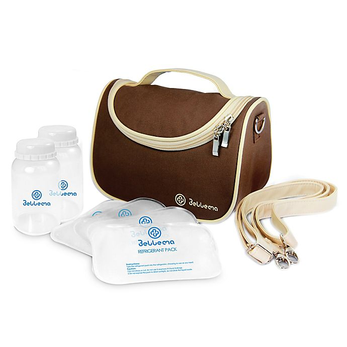 Alternate image 1 for Bellama Breastmilk Insulated Cooler Bag in Brown