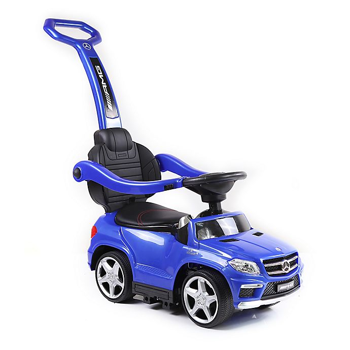Alternate image 1 for Licensed Mercedes 4-in-1 AMG Push Car in Blue