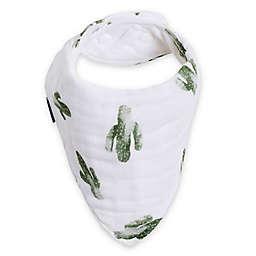 Bebe Au Lait® Saguaro Bandana Bib in Green/White