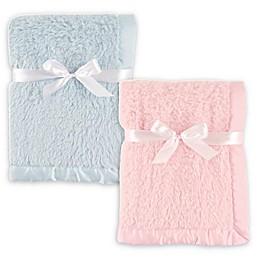 Hudson Baby® Sherpa Blanket with Matte Satin Trim
