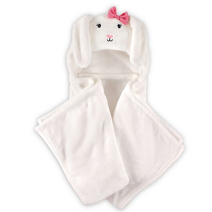 Alternate image 1 for Hudson Baby® Bunny Plush Hooded Blanket