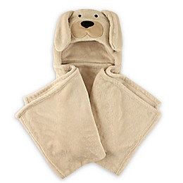 Hudson Baby® Dog Plush Hooded Blanket