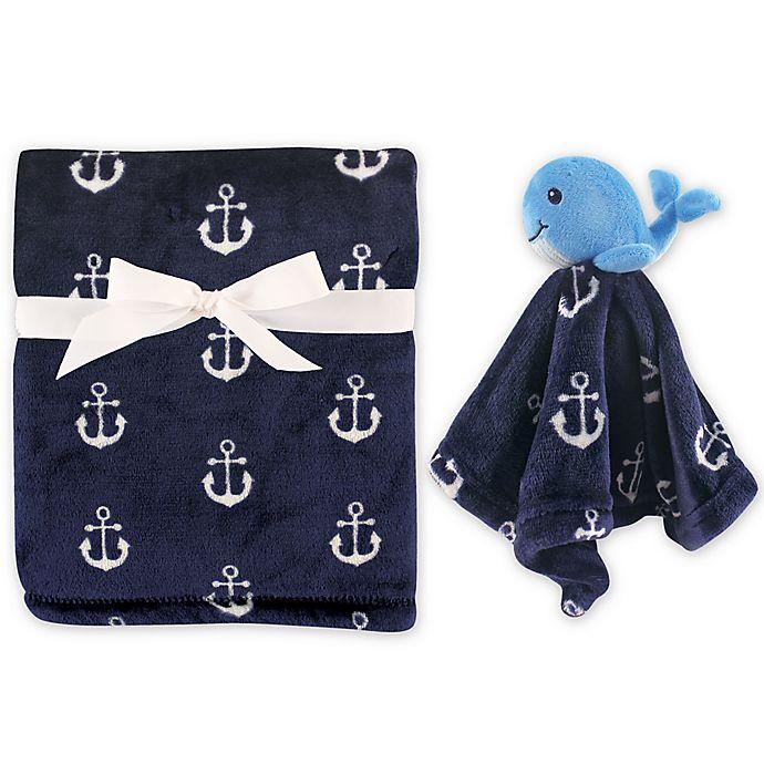 Alternate image 1 for Hudson Baby® Plush Security Blanket Set in Blue