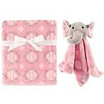 Hudson Baby® Plush Security Blanket Set in Pink