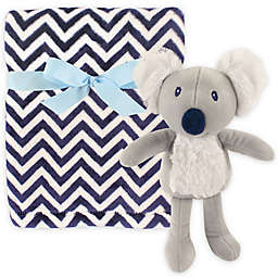 Hudson Baby® Plush Blanket and Toy Set in Navy