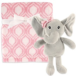 Hudson Baby® Plush Blanket and Toy Set in Pink