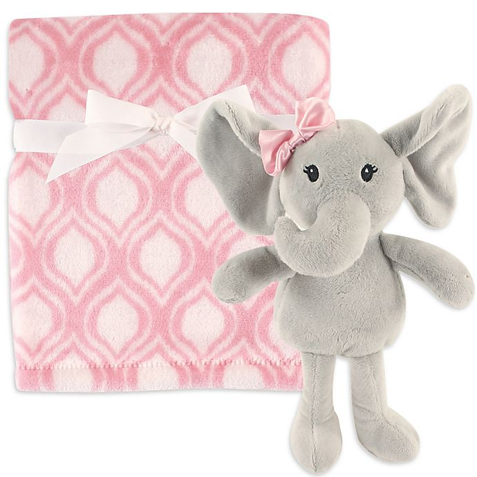 Alternate image 1 for Hudson Baby® Plush Blanket and Toy Set in Pink