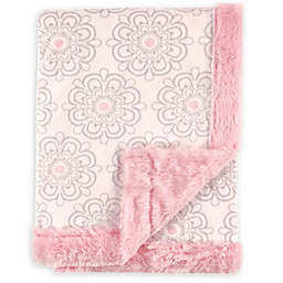 Hudson Baby® Plush Floral Blanket in Pink