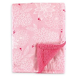 Hudson Baby® Minky Blanket with Sherpa Back in Pink