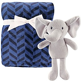 Hudson Baby® Elephant Blanket and Toy Set in Blue
