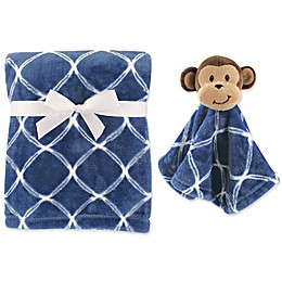 Hudson Baby® Monkey Plush Security Blanket Set