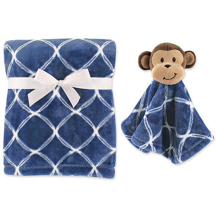 Alternate image 1 for Hudson Baby® Monkey Plush Security Blanket Set