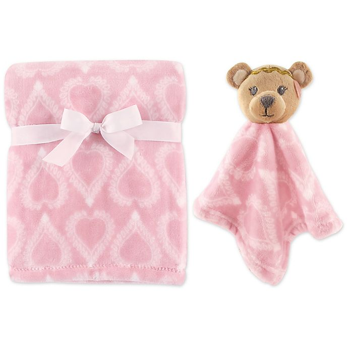 Alternate image 1 for Hudson Baby® Bear Plush Security Blanket Set