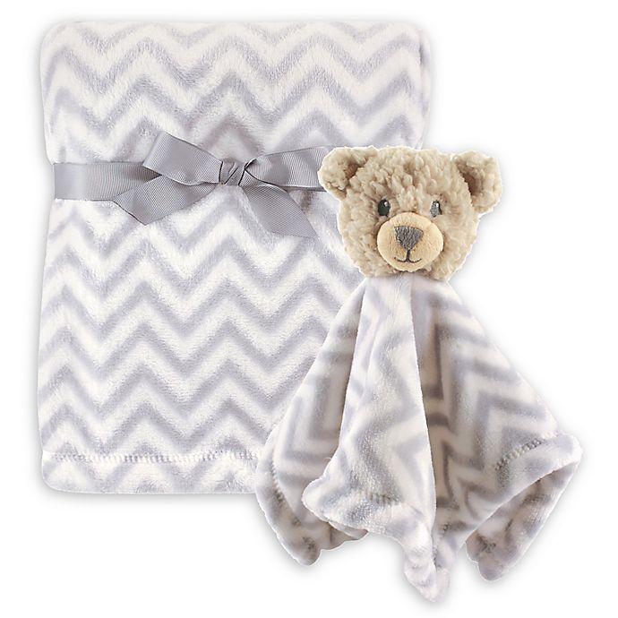 Alternate image 1 for Hudson Baby® Unisex Plush Security Blanket Set