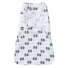 HALO® SwaddleSure™ Leaf Adjustable Swaddling Pouch in White/Blue
