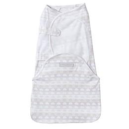 HALO® SwaddleSure™ Elephant Adjustable Swaddling Pouch in White/Grey