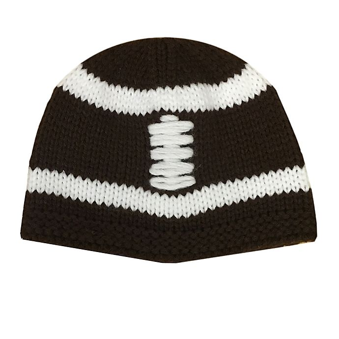 Alternate image 1 for So' Dorable Size 0-12M Knit Football Hat