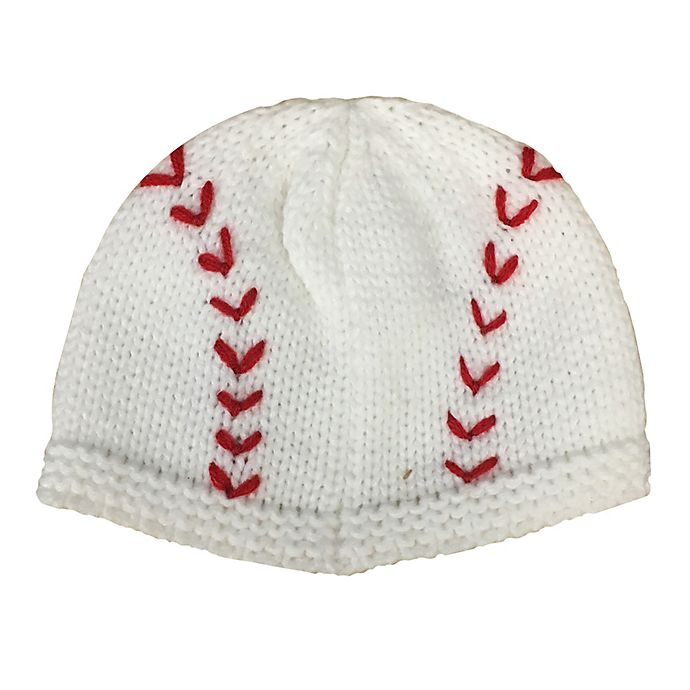Alternate image 1 for So 'dorable Size 0-12M Baseball Knit Hat