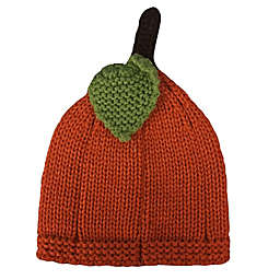 So 'dorable Size 0-6M Pumpkin with Leaf Knit Hat