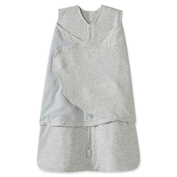 Alternate image 1 for HALO® SleepSack® Small Multi-Way Cotton Swaddle in Grey
