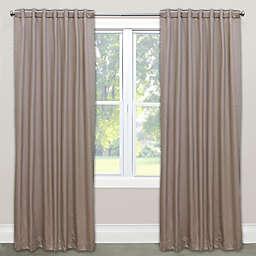 Skyline Solid Room Darkening Rod Pocket/Back Tab Window Curtain Panel