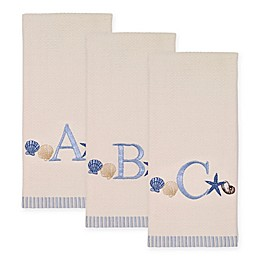 Avanti Antigua Cotton Embroidered Monogram Kitchen Towel