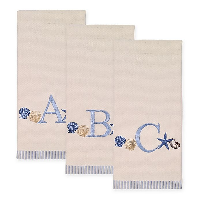 Alternate image 1 for Avanti Antigua Cotton Embroidered Monogram Kitchen Towel