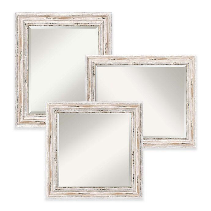 Alternate image 1 for Amanti Art Alexandria Mirror in White