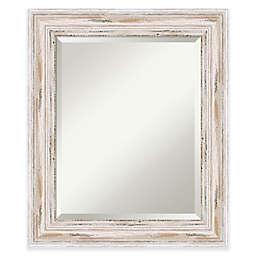 Amanti Art Alexandria 21-Inch x 25-Inch Mirror in White