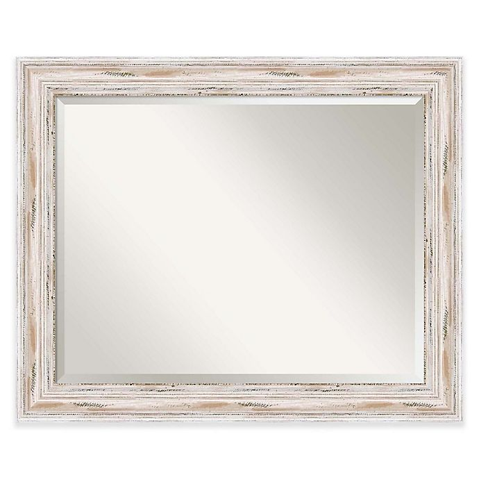 Alternate image 1 for Amanti Art Alexandria 33-Inch x 27-Inch Framed Wall Mirror in White