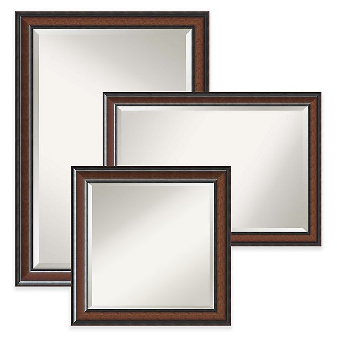 Amanti Art Cyprus Wall Mirror in Brown | Bed Bath & Beyond