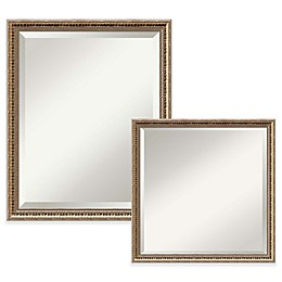Amanti Art Fluted Wall Mirror in Gold