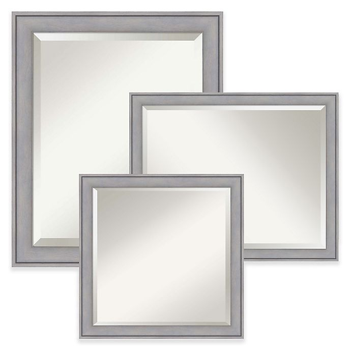 Alternate image 1 for Amanti Art Wall Mirror in Grey Wash