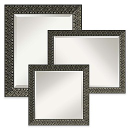 Amanti Art Intaglio Wall Mirror in Black