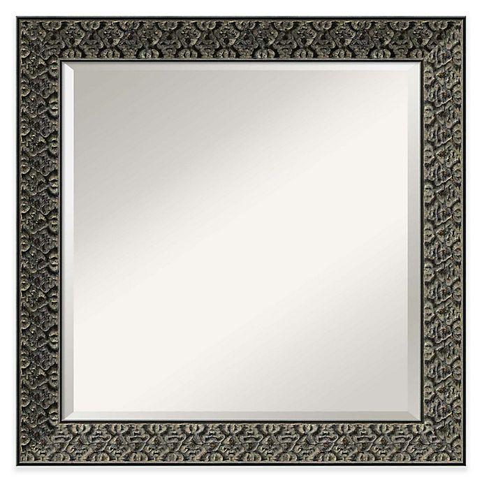 Alternate image 1 for Intaglio 24-Inch x 24-Inch Wall Mirror in Antique Black