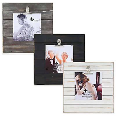 Lawrence Frames Weathered 9-Inch Square Picture Frame with Clip