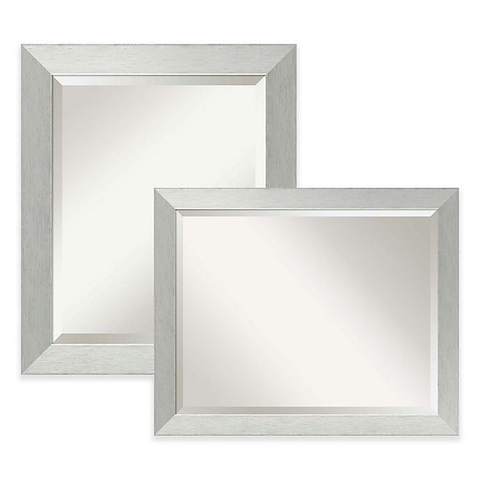 Amanti Bathroom Mirror In Brushed Silver Bed Bath And