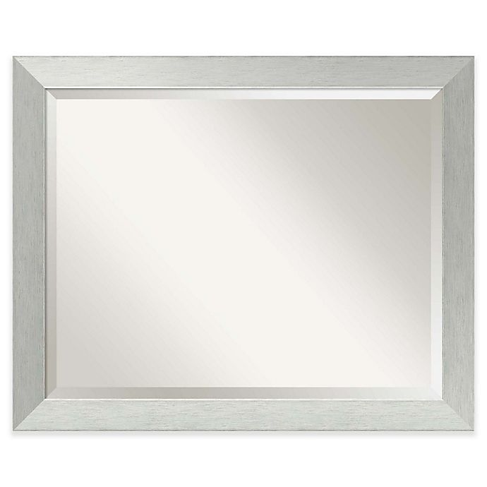 Alternate image 1 for Amanti 32-Inch x 26-Inch Bathroom Mirror in Brushed Silver