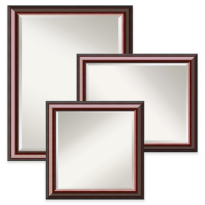 Alternate image 1 for Amanti Art Cambridge Wall Mirror in Brown