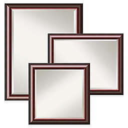 Amanti Art Cambridge Wall Mirror in Brown