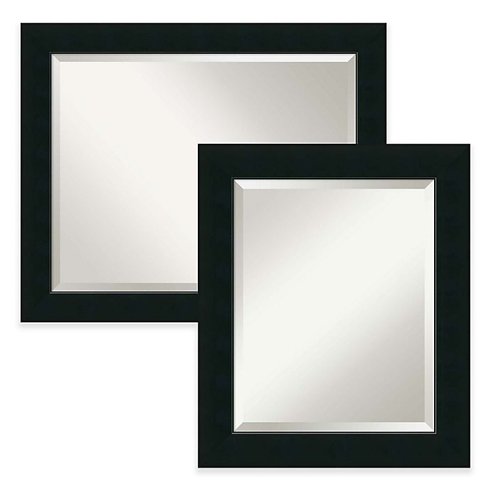 Alternate image 1 for Armanti Corvino Bathroom Wall Mirror in Black