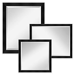 Amanti Madison Large Wall Mirror in Black