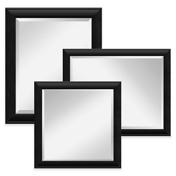 Alternate image 1 for Amanti Nero Wall Mirror in Black