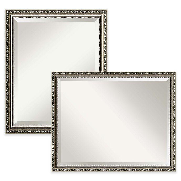 Alternate image 1 for Amanti Art Parisian Silver Bathroom Mirror in Nickel/Silver