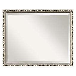 Amanti Art Parisian Silver 31-Inch x 25-Inch Bathroom Mirror in Nickel/Silver