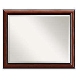 Regency 32-Inch x 26-Inch Rectangular Wall Mirror in Mahogany