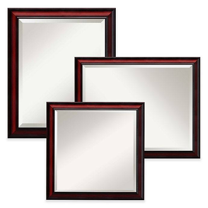 Alternate image 1 for Amanti Rubino Large Wall Mirror in Cherry Scoop