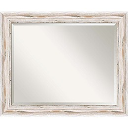 27-Inch x 33-Inch Alexandria Bathroom Mirror in Whitewash