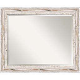 27-Inch x 33-Inch Alexandria Bathroom Mirror in Whitewash